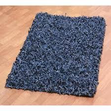 Blue Shaggy Rug Rugs Grey Leather Shag Rug