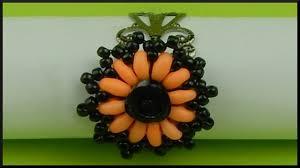 diy halloween jewelry schwarz orangener perlenring beaded