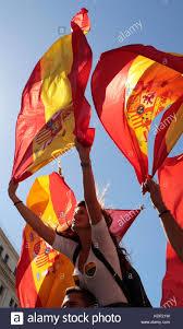 Barcelona Spain Flag Spanish Flag Barcelona Spain Stockfotos U0026 Spanish Flag Barcelona