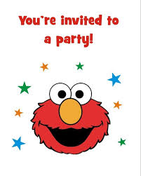 elmo birthday elmo free printable birthday party invitation personalized party