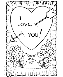 valentines color page valentine coloring page for kid 021