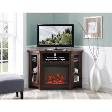 walker edison furniture company traditional brown fireplace corner