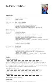 Computer Technician Sample Resume by Construction Worker Resume Samples Visualcv Resume Samples Database