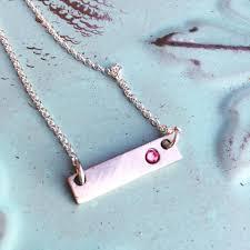Custom Birthstone Necklaces Mom Birthstone Necklace Birthstone Bar Necklace Custom