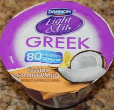 light and fit vanilla yogurt dannon light fit toasted coconut vanilla food review youtube