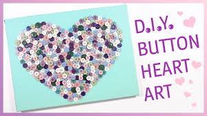 Cool Bedroom Wall Designs For Girls Diy Button Heart Art Cute Bedroom Wall Decor For Girls Youtube