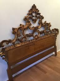 antique painted gold gilt florentine italian bed full headboard