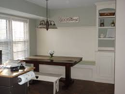custom made l shaped built in banquette bench with hidden storage
