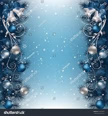 christmas background fir branch border bells stock vector