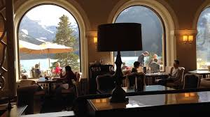 a restaurant in fairmont chateau lake louise hotel youtube