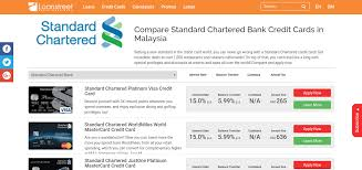 compare standard chartered bank credit cards in malaysia