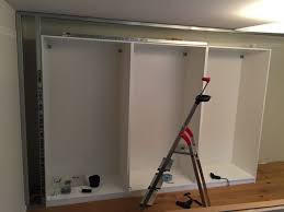 How To Build A Built In Bookcase Into A Wall Built In Pax Using Dry Wall Technique Ikea Hackers