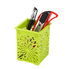 online shop hollow floral pencil holder desk pen containers