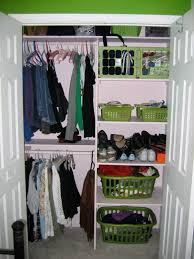 storage interesting closet organization tips with plastic basket