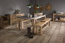 the zinc farm table handcrafted by indigo furniture