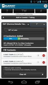 Conduit Fill Table Conduit Fill Tracker Android Apps On Google Play