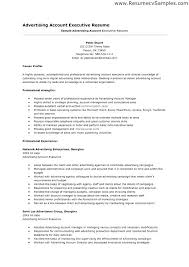 resume sles for advertising account executive description advertising account manager resume soaringeaglecasino us