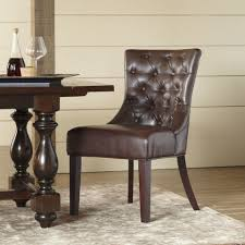 13 best leather dining room chairs in 2018 leather side arm