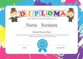 diplomas de primaria descargar diplomas de primaria temperatura de diseño de diploma certificado preescolar escuela
