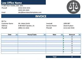 legal services invoice template excel invoice template