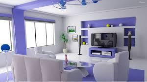 interior wallpaper for home white and blue interior in home theater room wallpaper