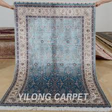 yilong 4 u0027x6 u0027 hand knotted turkish carpet dark blue vantage antique