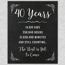40th anniversary gift 40th anniversary gift 40th year wedding anniversary 40th