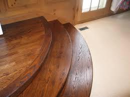 oak wood floors curved stair tread and riser