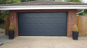 hormann m ribbed sectional white woodgrain garage door hormann