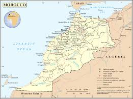 Costa Rica Airports Map Large Detailed Political And Administrative Map Of Morocco With