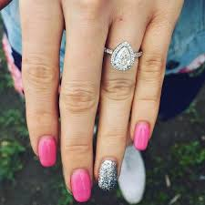 teardrop engagement rings what manicure goes perfectly with every engagement ring