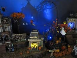 miniature halloween village the world u0027s best photos of lemax and town flickr hive mind
