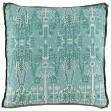 lacefield bombay mist pillow with trellis mist gusset and stone