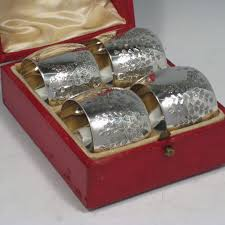 napkin rings in antique sterling silver bryan douglas antique