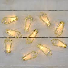 Gold Lights 10 Count Gold Wire Diamond Battery Operated Led Lights