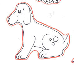 simple dog clipart 67