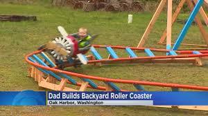 world u0027s best dad builds son backyard rollercoaster wcco cbs