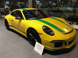 porsche r special racing yellow porsche 911 r tribute to ayrton senna