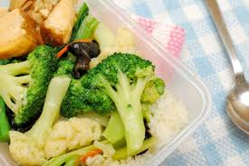 delicious chinese vegetarian packed lunch or dinner with healthy