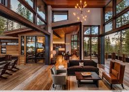 wood home interiors modern rustic mountain home modern mountain homes to take you