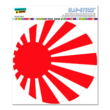 japanese flag rising sun circle slap stickz window