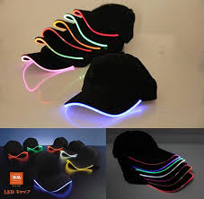 hats led lighted glow club baseball hip hop adjustable black
