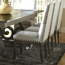 Microfiber Dining Room Chairs Dining Chairs With Nailheads Silver White Microfiber Grey Tufted