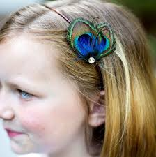 peacock headband wedding flower girl peacock headband mini peacock feather