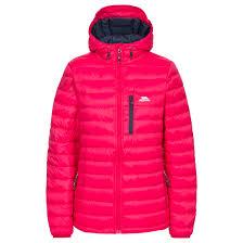 trespass arabel womens warm winter coat hooded lightweight padded