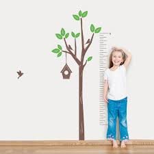 Wall Stickers Trees Tree Growth Chart Wall Decal