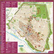 Map Of Italy Cities by Ferrara Tourist Map