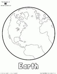 planet earth printable outlines shape book writing pages