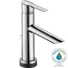 delta compel single hole single handle bathroom faucet with
