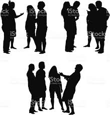 party silhouette young people party clip art vector images u0026 illustrations istock